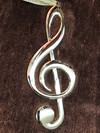 AIM Gifts G-Clef (treble-clef) Ornament - Gold plated, 5""