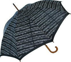 AIM Gifts Sheet Music Umbrella with Black Background & White Notes