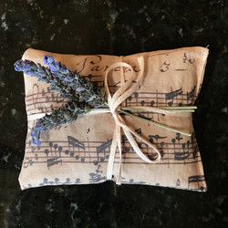 Lavender sachet, sewn and grown by Barbara