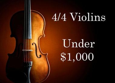 Violins under $1,000