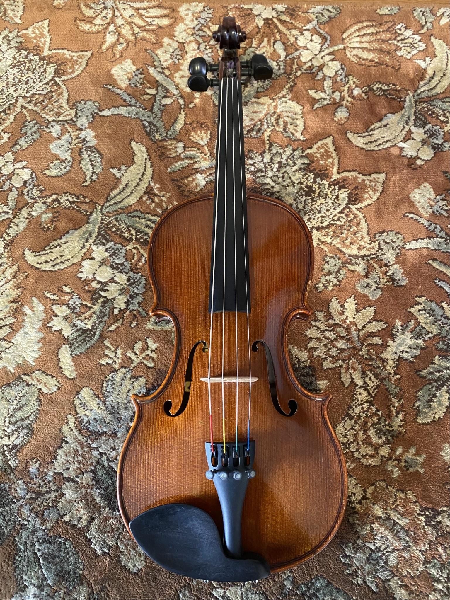 """Gliga Gliga 12.5"""" used viola outfit, 1999, Made in Romania"""