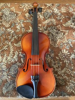 "German 14"" Strad 1713 model viola outfit, used"