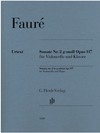 Faure (Kolb): Cello Sonata No. 2 in G Minor, Op. 117 (cello and piano) Henle