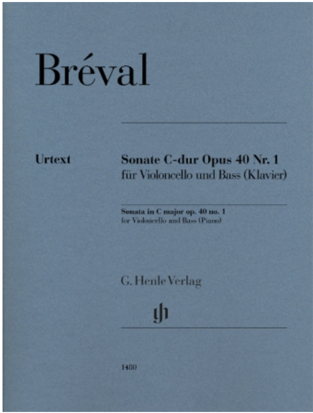 Breval (Umbreit): Sonata in C Major Op. 40, No. 1 (cello and bass) Henle