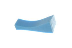 Poly-Pad Small Poly-Pad sponge shoulder rest, blue extra firm