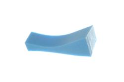 Poly-Pad Medium Poly-Pad sponge shoulder rest, blue extra firm
