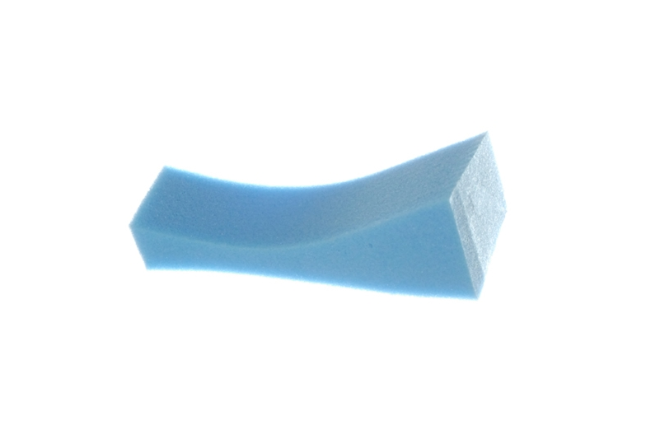 Poly-Pad Medium Poly-Pad sponge shoulder rest, blue extra firm