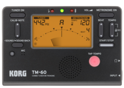 Korg Korg TM-60 Chromatic Tuner Metronome, Black