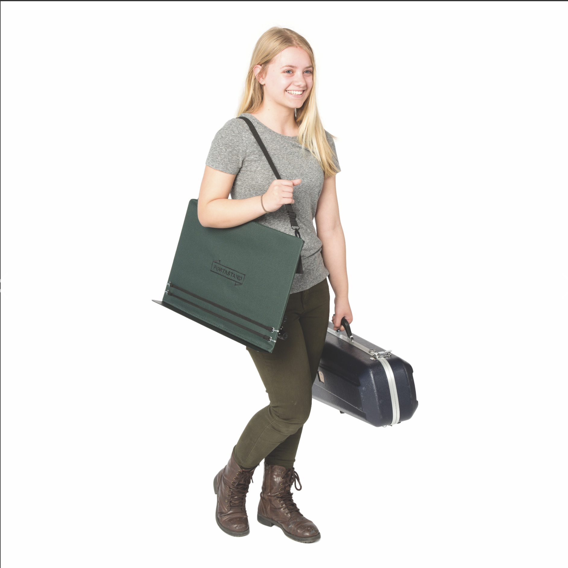 Portastand Portastand Troubadour 2.0 collapsible solid desk music stand with carrying bag,