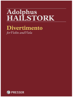 Theodore Presser Hailstork: Divertimento (violin and viola) Presser