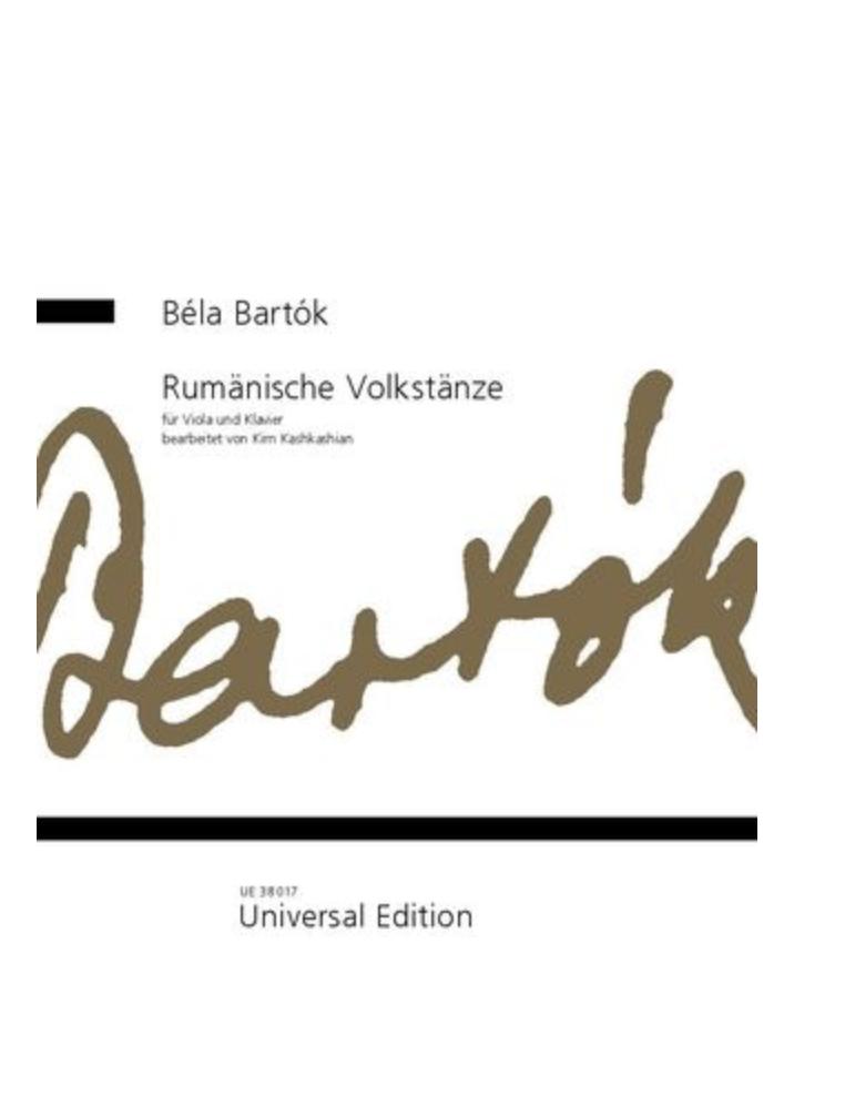 Universal Edition Bartok: Rumänische Volkstänze (viola and piano) UE