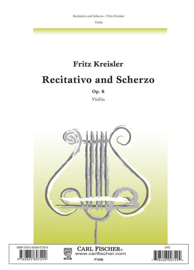 Carl Fischer Kreisler, Fritz: Recitativo & Scherzo (violin solo)
