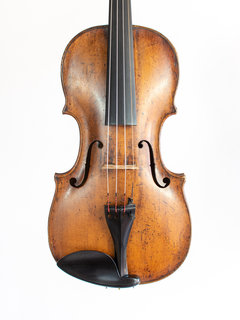 "Old Saxon violin labeled ""Nicolaus Amatus"", petite, late 18th century"