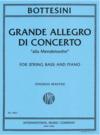 """International Music Company Bottesini (Martin):Grande Allegro di Concerto """"alla Mendelssohn"""" (bass and piano) IMC"""