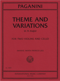 International Music Company Paganini (Jee, Iwata): Theme and Variations in A Major (two violins and cello) IMC