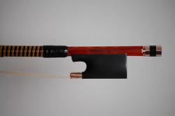 JOSEPH LIU violin bow, silver/copper Mokume Gane, Kansas City USA