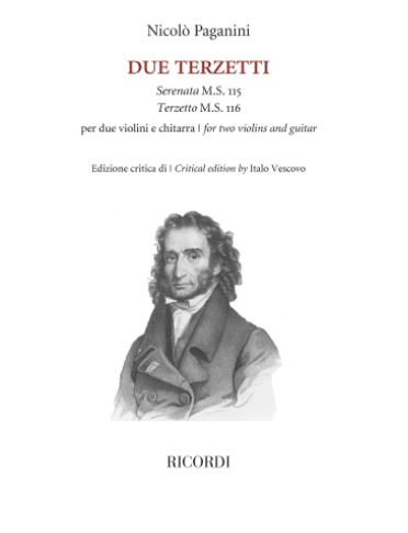 RICORDI Paganini: Due Terzetti - Serenata 115, Terzetto 116 (two violins, guitar) Ricordi