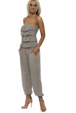 Strapless Silk Jumpsuit
