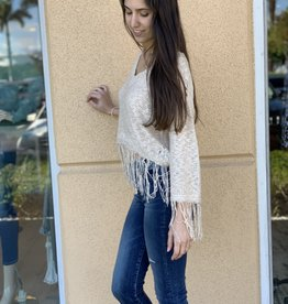 Fringe Cream Knit