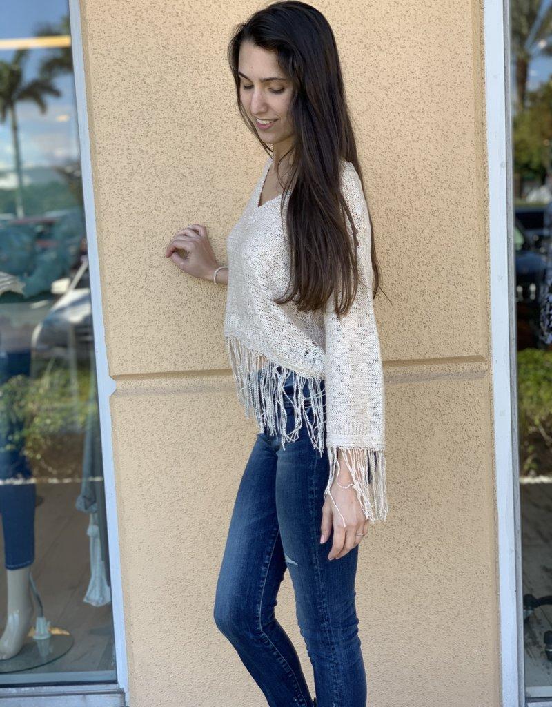 Fringe Cream Knit