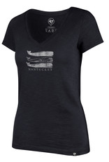 47 Brand 47 Ladies Tee V Neck Stacked Whales