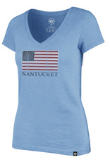 47 Brand 47 Ladies Tee V Neck Flag
