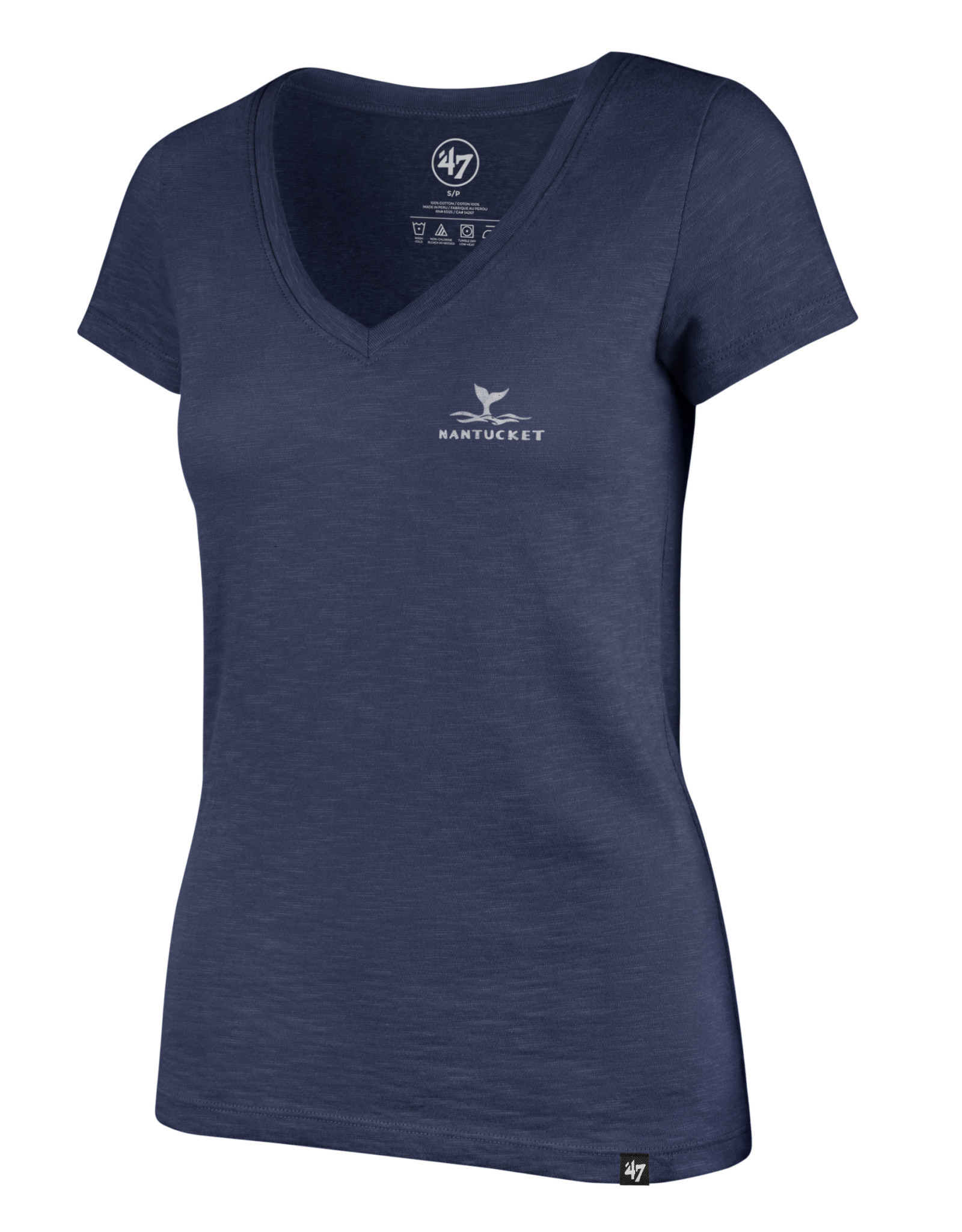 47 Brand 47 Ladies Tee V Neck Whale tail