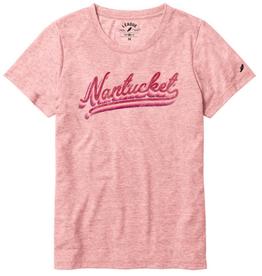 League 331: League Ladies Tee Nantucket Script