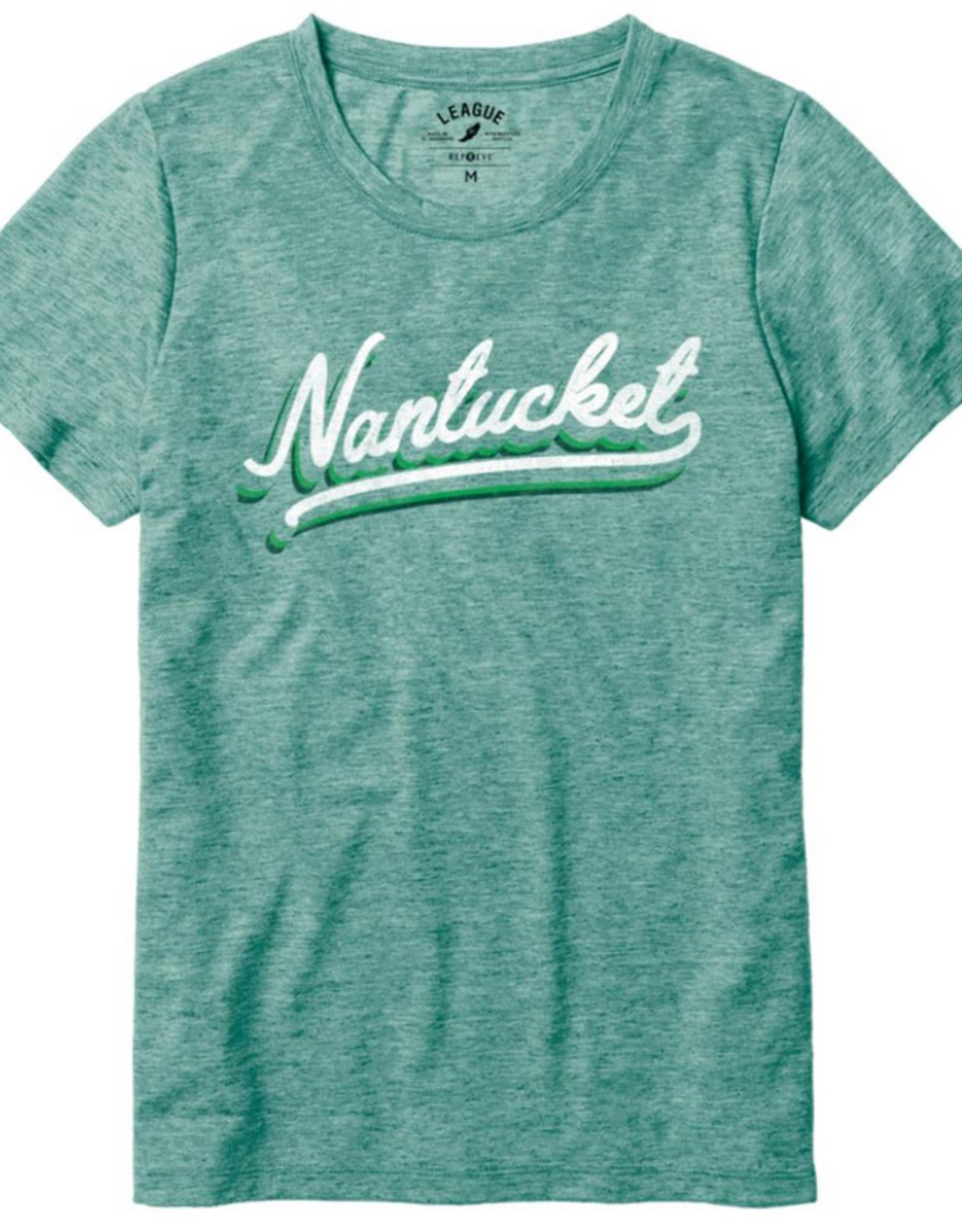 League League Ladies Tee Nantucket Script
