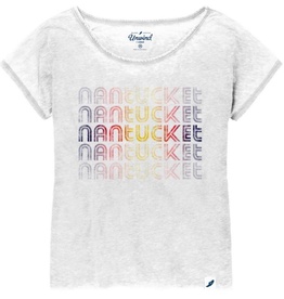 League 334: League Ladies Tee Stacked Nantucket