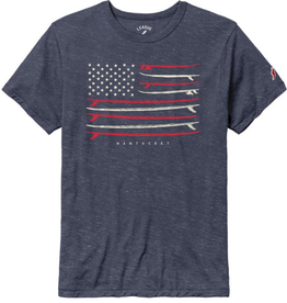 League 139: League Mens Tee Surfboard Flag