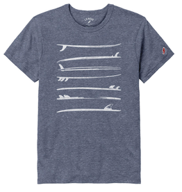 League 138: League Unisex Tee Stacked Surfboards
