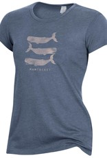 Alternative Appareal Alternative Ladies Tee Stacked Whales