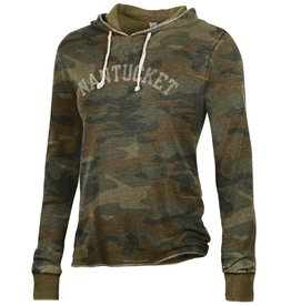Alternative Appareal 254: Alternative Ladies Camo Pullover Hoodie