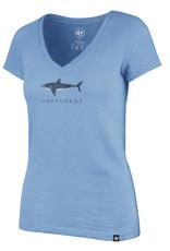 47 Brand 47 Ladies Tee V Neck Shark