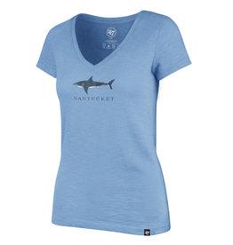47 Brand 47 Ladies V Neck Tee Shark
