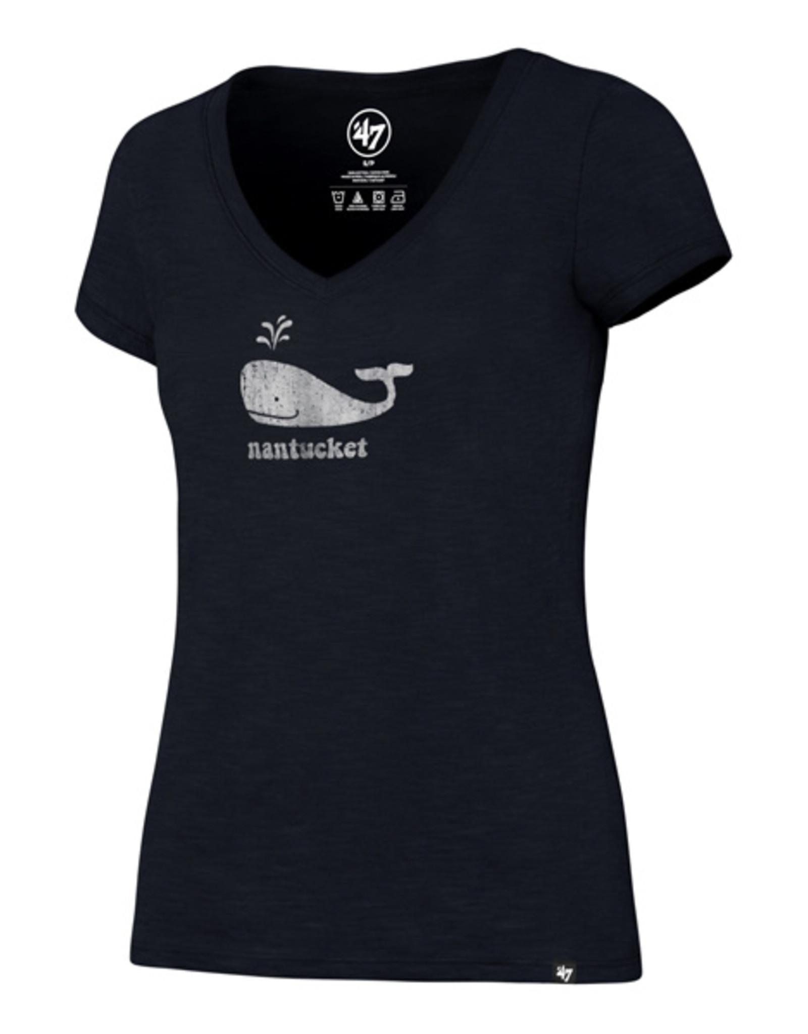 47 Brand 47 Ladies Tee V Neck Happy Whale