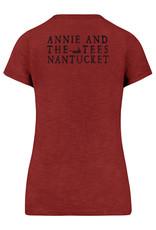 47 Brand 47 Ladies V Neck Tee Annie's Logo