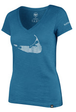 47 Brand 47 Ladies V Neck Tee Island