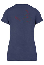 47 Brand 47 Ladies V Neck Tee Island/Outline