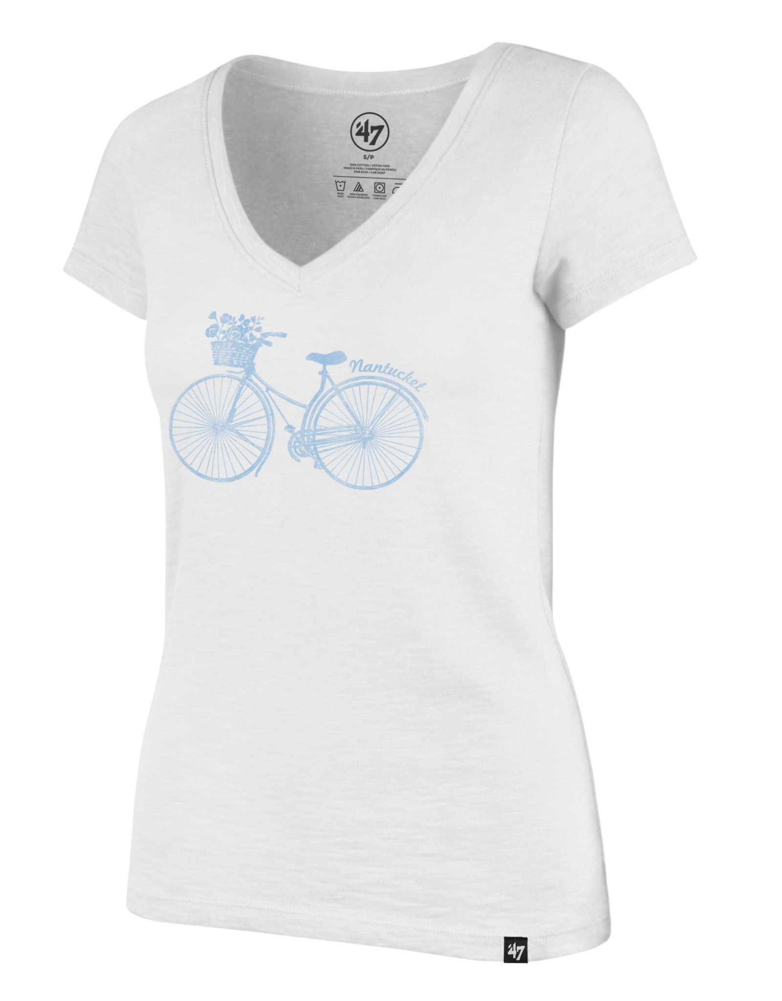 47 Brand 47 Ladies V Neck Tee Bike