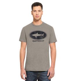 47 Brand 121: 47 Unisex Tee Circle Shark