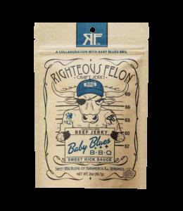 Righteous Felon Baby Blues BBQ Beef Jerky 2oz