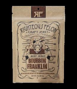 Righteous Felon Bourbon Franklin Beef Jerky 2oz