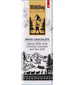 Milkboy Swiss Alpine Milk w/ Caramel & Sea Salt Snack Size Bars
