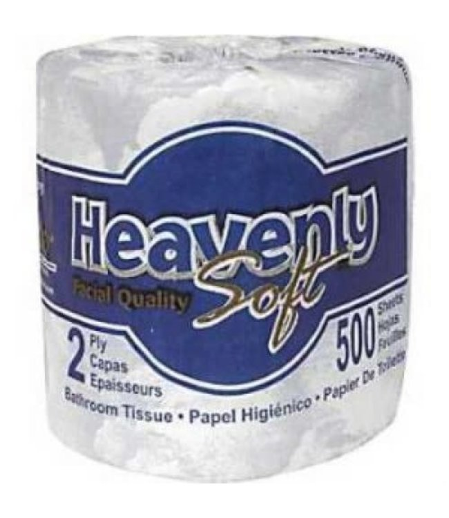 Regular 2-Ply wrapped Toilet Paper - 500 Sheet (Blue Wrapping)