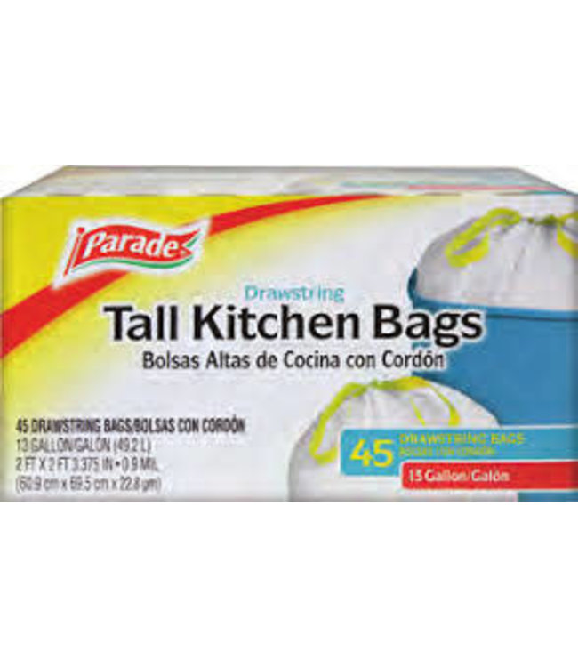 Tall Kitchen Trash Bag 13 Gal - 45 Pack