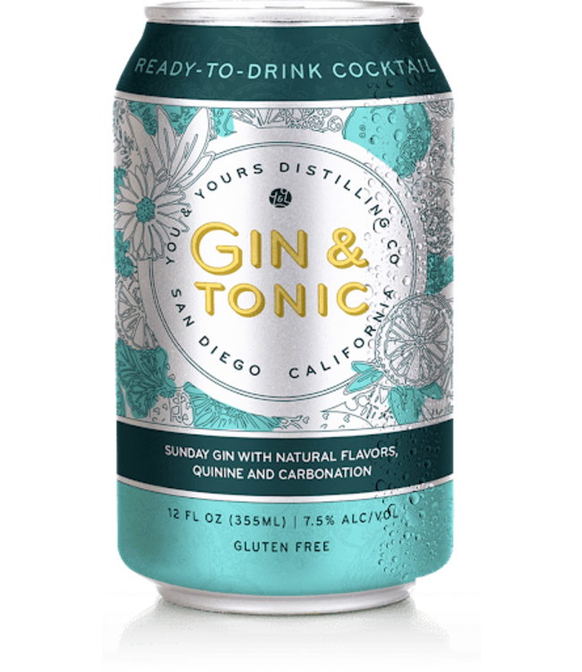 You & Yours Gin & Tonic (4pk cans)