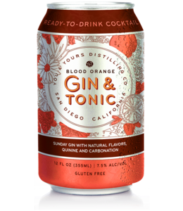 You & Yours Blood Orange Gin & Tonic (4pk cans)