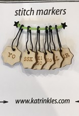 Stitch Markers on Pins